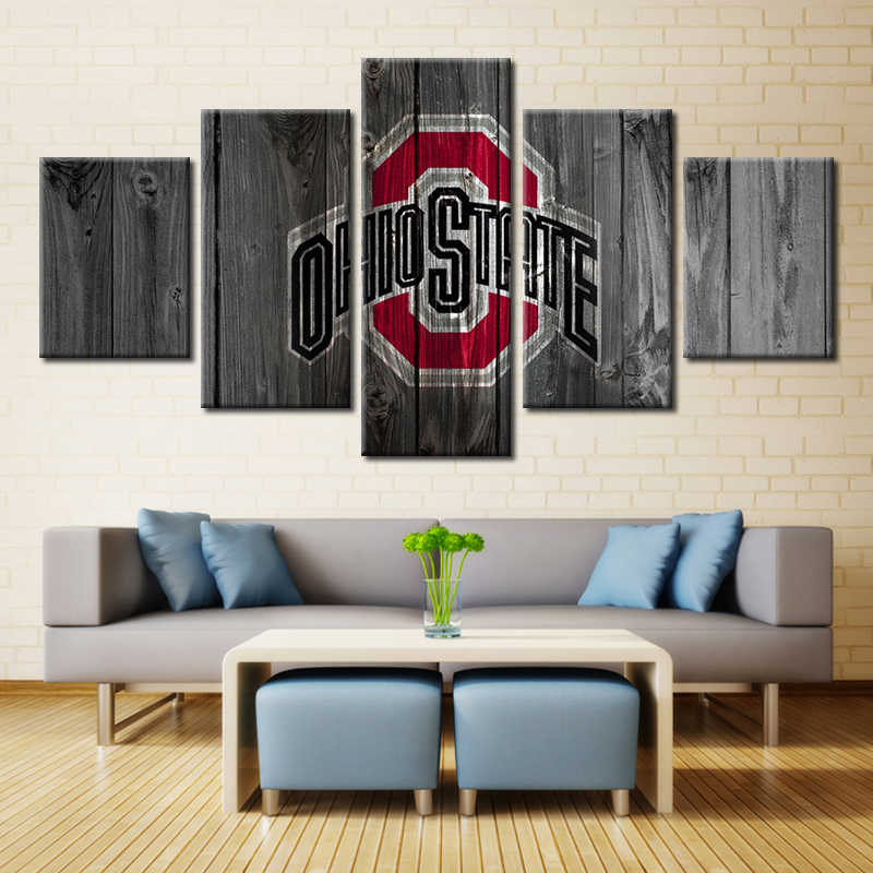 Saints Football Home Decor Modern Painting On Canvas Wall Art Hd Printed 5 Pieces
