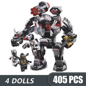 405 個スモールビルディングブロック玩具互換 lepinging 戦争機械バスターアイアンマンマーベルスーパーヒーローのギフト