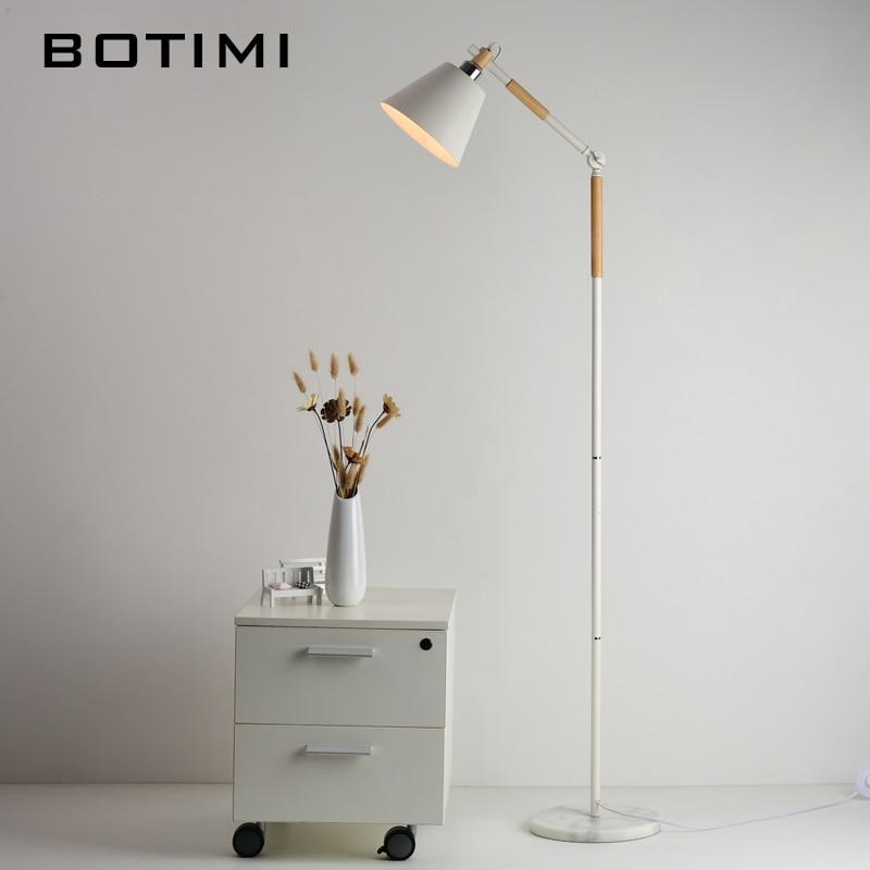 BOTIMI Торшер в европейском стиле Nordic Wood Standing Light Для Гостиной Спальня Отель luminaria de mesa E27 Lamparas