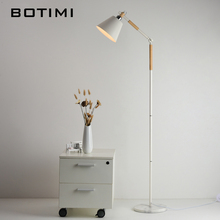 BOTIMI European-style floor lamp for living room bedroom  Nordic wood standing hotel luminaria de mesa E27 lamparas