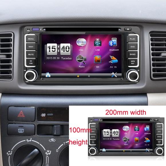 2 din 6 2 inch 200 100 Car DVD player GPS BT Radio Touch Screen car