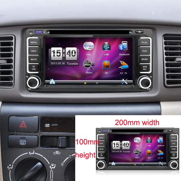 2 din 6.2 inch 200*100 Car DVD player GPS+BT+Radio+Touch Screen+car pc+aduio+Stereo+Video For Toyota Hilux VIOS Camry Corolla2 din 6.2 inch 200*100 Car DVD player GPS+BT+Radio+Touch Screen+car pc+aduio+Stereo+Video For Toyota Hilux VIOS Camry Corolla