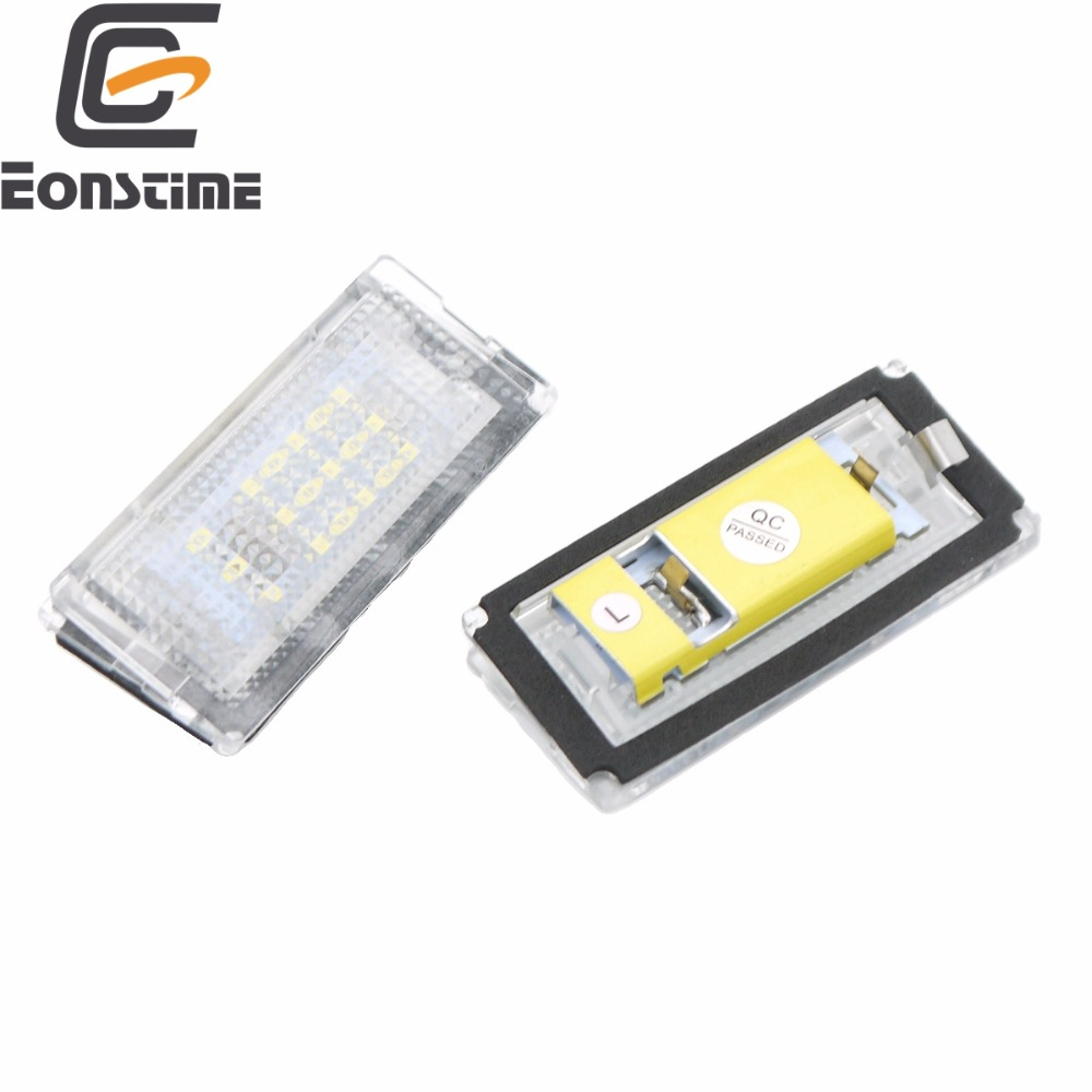 Eonstime 2pcs 6500K <font><b>18</b></font> LED <font><b>SMD</b></font> License Plate Lights Lamps Bulbs for BMW E46 4D (98-05) 323i 325i 328i 99-03 330xi 330i 325xi image