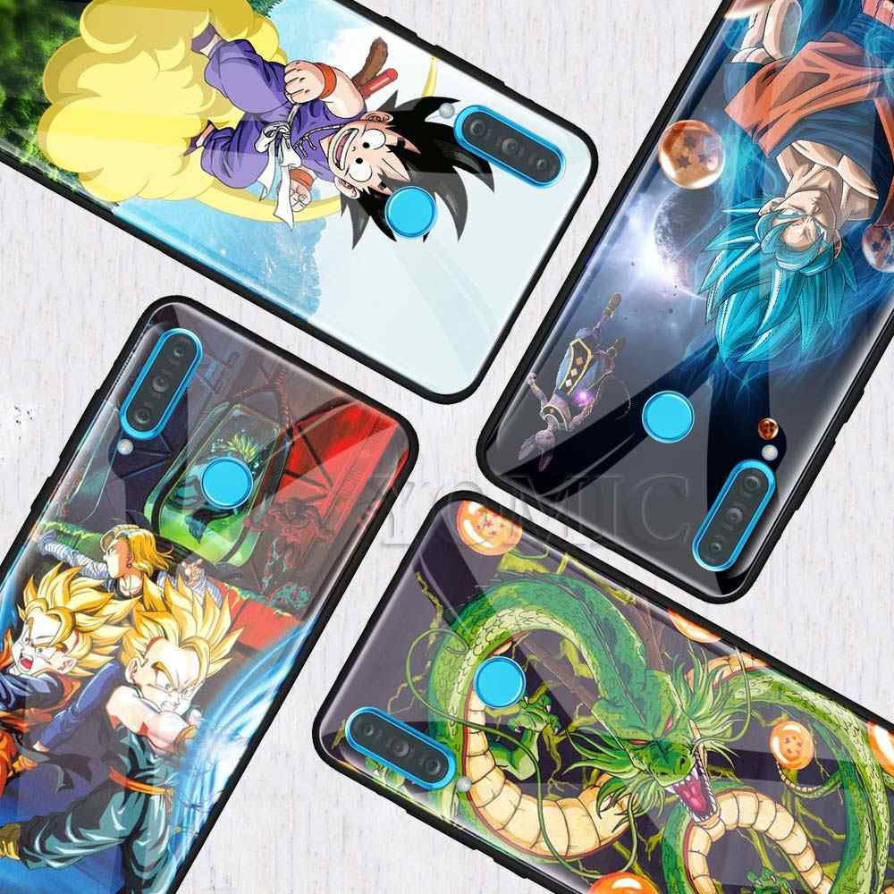 Tempered Glass Case for Huawei P20 P30 P10 Mate 10 20 Lite Pro Honor 8X 20Pro Anime Casos Phone Coque Covers Dragon Ball z goku