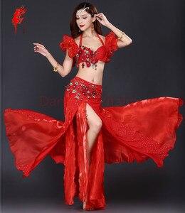 Image 2 - Nuovo Professionale di Danza Del Ventre Abbigliamento Le Donne Orientali costumi di Danza Del Ventre per le Prestazioni di danza del ventre vestito S M L