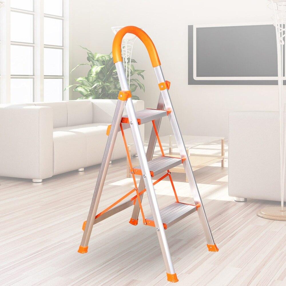 Fabulous Us 129 65 3 4 5 Step Ladder Folding Stool Stepladder Non Slip Heavy Duty Aluminum Load Capacity Home Office Garage Dq9072 1 2 3 In Stools Inzonedesignstudio Interior Chair Design Inzonedesignstudiocom