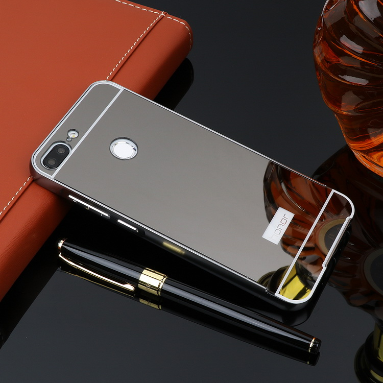 For Huawei Honor 9 Lite Case 5 65 Mirror Aluminum Metal Bumper & PC Back  Phone Cases For Huawei Honor 9 Lite Cover LLD-L31