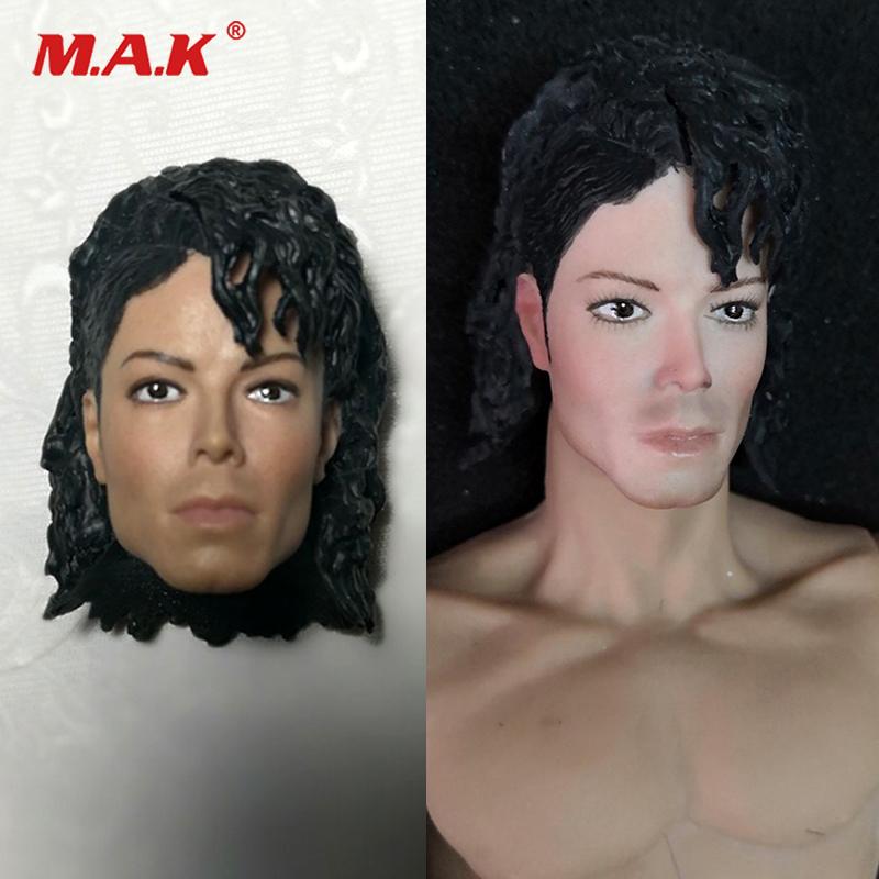 1/6 Scale Male Head Sculpt Hollywood Singer Michael Jackson Fit 12inches Male Body Figure For Collection