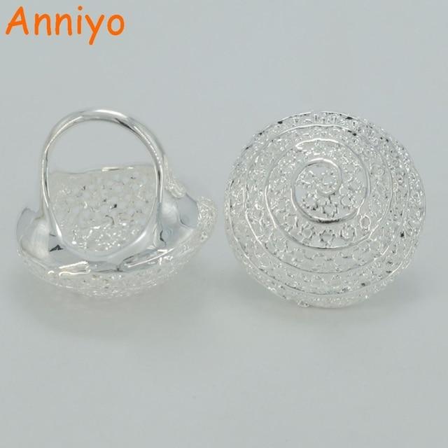 Anniyo Bright Silver Color Ethiopian Wedding Ring for WomenEritrean