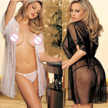 Women Sexy Lingerie hot kimono intimate sleepwear Babydoll erotic lingerie sexy nightgown Lace perspective Ladies Sexy Robe