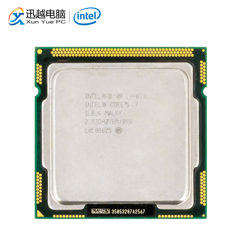 Intel Core I7 870 Desktop Processor I7-870 Quad-Core 2.93GHz 8MB L3 Cache LGA 1156 Used CPU