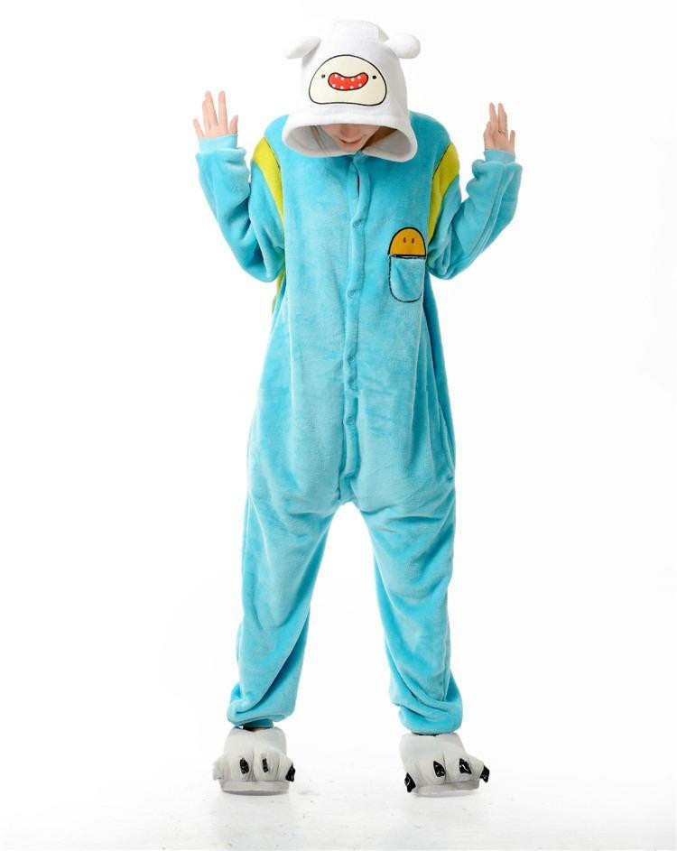 Adventure Time With Finn And Jake Adults Jumpsuit Costumes Women Men s Pajamas  Halloween Party Cosplay camouflage Costumes-in Movie   TV costumes from ... cb764633a