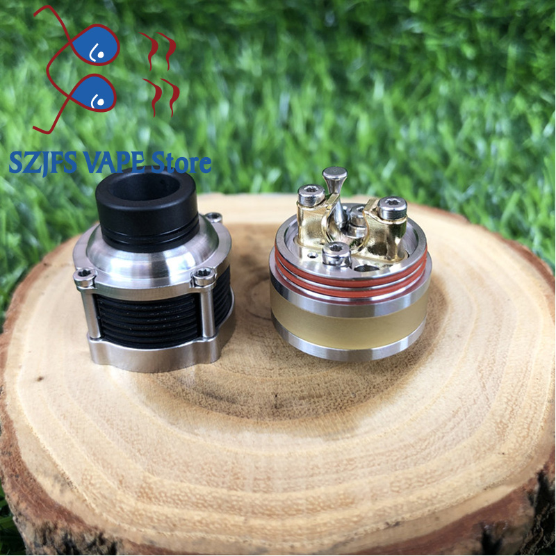 SXK Pyrogeyser RDTA Frankenskull Adjustable intake 22mm tank 316 stainless steel e cigarette Atomizer vape mods mtl rta Vaper in Electronic Cigarette Atomizers from Consumer Electronics