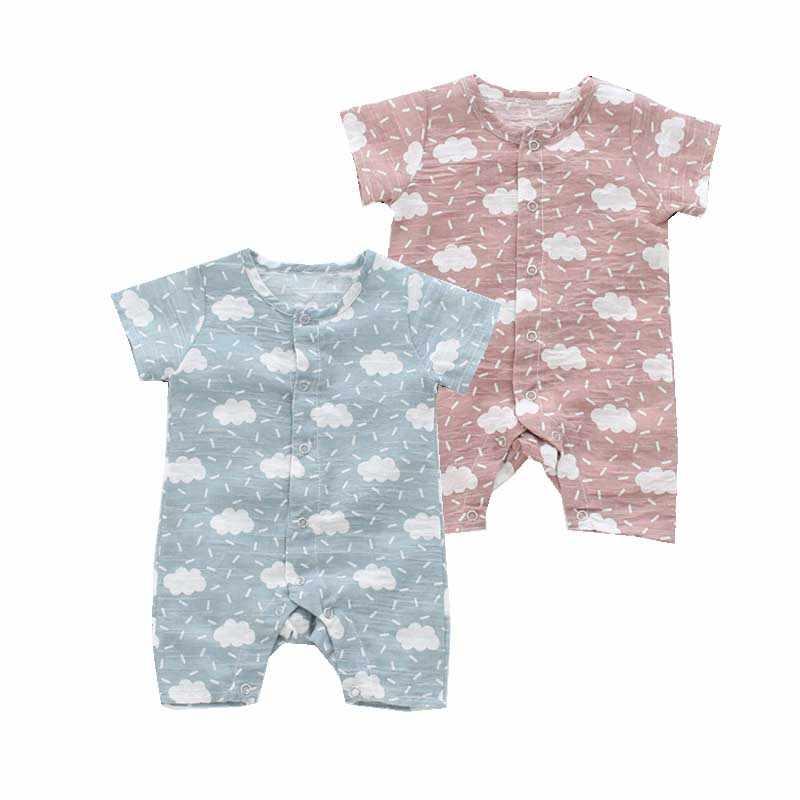 Ba g 3 милый белый облако младенческой комбинезон для новорожденных девочек мальчиков комбинезоны однобортный наряды