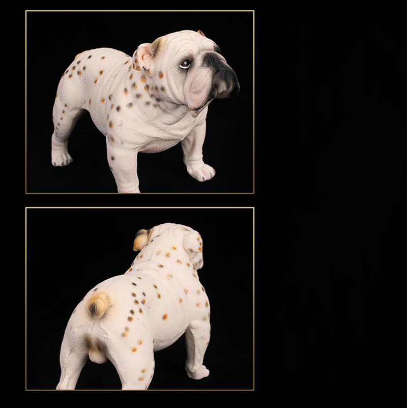 17CM PVC Dalmatian Dog Models Animal Action Figures Home Decoration Kids Cheap Toys Gifts Collections