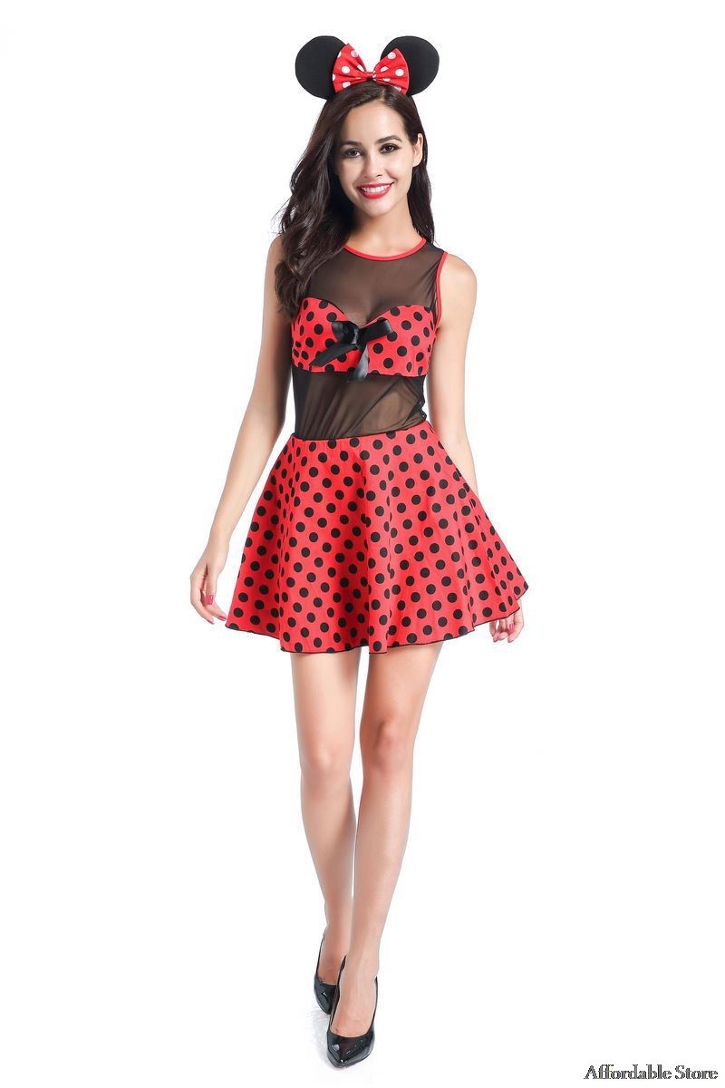 Minnie Mouse Adult Halloween Costumes for Women Cosplay Sexy Fantasy Women Wholesale Dress-in Holidays Costumes from Novelty u0026 Special Use on Aliexpress.com ...  sc 1 st  AliExpress.com & Minnie Mouse Adult Halloween Costumes for Women Cosplay Sexy Fantasy ...