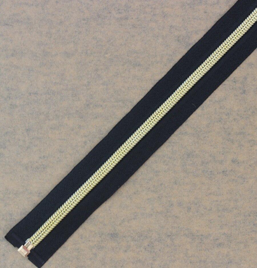 50 قطعة 50 سنتيمتر الطول الذهب الأسود لهجة الأسنان سستة نهاية مفتوحة السوستة المعدنية للخياطة معطف ازياء z49-في سحابات من المنزل والحديقة على  مجموعة 3