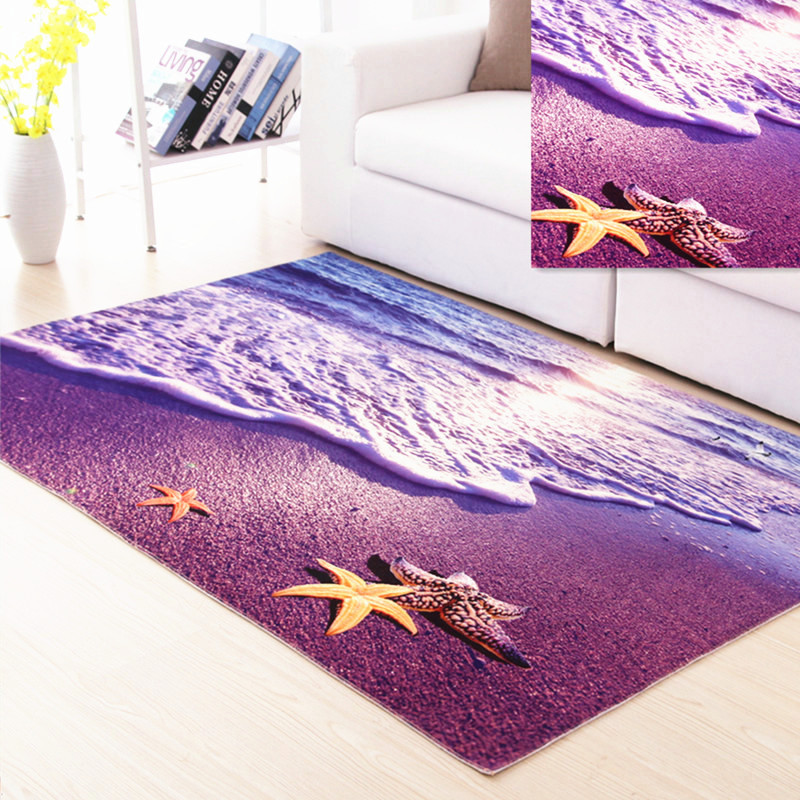 3d Scenery Printed Carpet For Living Room Bedroom Anti