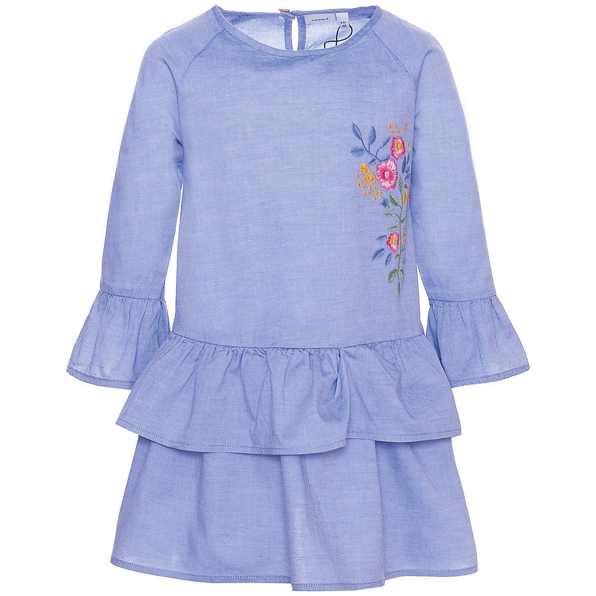 NAME IT Dresses 10624813 dress for girls baby clothing fashion slim family long sleeve mesh dress for girls