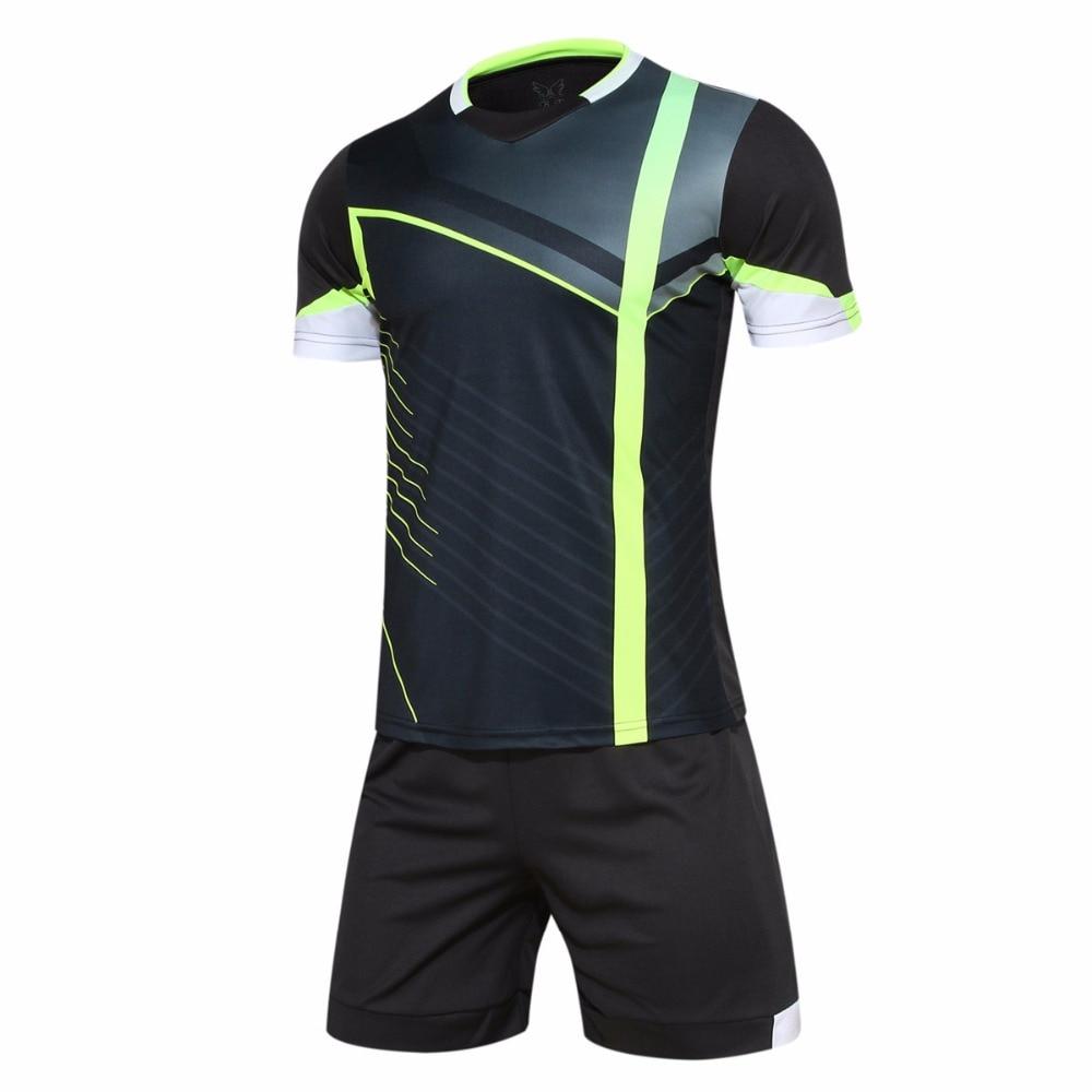 bdf226d9a New Design Mens Football Jerseys High Quality Short Sleeve Soccer Training  Breathable Football Jerseys Set Sportswear Uniforms-in Soccer Sets from  Sports ...