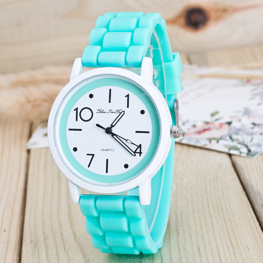 Hot Fashion Montre Women Bracelet Watch Mint Green Round Dial Silicone Quartz Analog Wrist Watch Casual Reloj Mujer Feida women with silicone watches fashion women round dial quartz analog wrist watch casual coloful design girls gift branded ladies page page 4