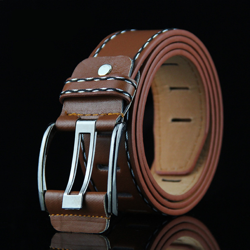 2017 High Quality Male and Female New Brand COW genuine Leather Belts for Men special letter Automatic Buckle Strap(China (Mainland))