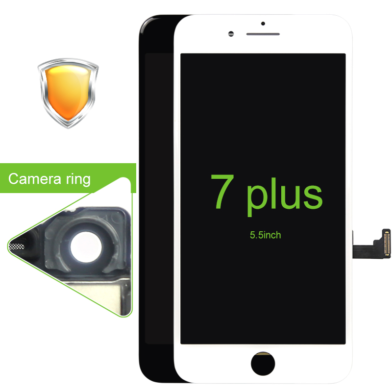 Prix pour Grade aaa qualité 3 pcs/lot écran complet avec écran tactile digitizer assemblée pour iphone 7 plus lcd livraison gratuite