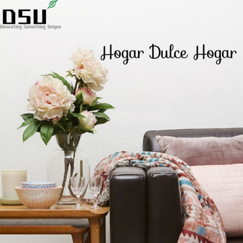 Spanish Hogar dulce Hogar Quote Lettering Art Vinyl Sticker Sweet Home Wall Bedroom Living Room Door Window Home Decor Words image