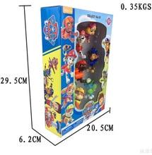 6pcs/lot Cheap Patrol Dogs Team Anime Action Figures Toy Patrol Dog Pvc Model Toys Juguetes La Patrulla Canina Doll