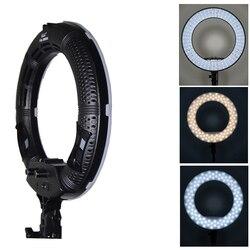 Yidoblo 12 FS-390II Bi-color Adjustable Mini size Ring lamp LED Soft light Lamp Make-up Lighting 38W 192 LED Lights + bag