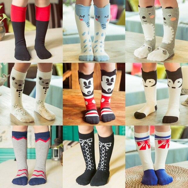 7bf331734 Fashion Cotton Girls Socks Vintage Cartoon Star Fox Kids Socks Newest Long  Socks for Baby Girls 2018 Children's Clothing