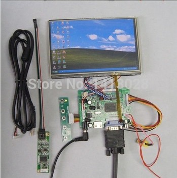 """DIY 7"""" Inch N070ICG-LD1/LD4 LCD Panel + LCD Controller board + Touch Screen + Remote"""