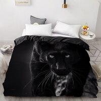 3D Print Duvet Cover Custom Design,Comforter/Quilt/Blanket case Queen/King,Bedding 220x240,Bedclothes Animal Black Panther