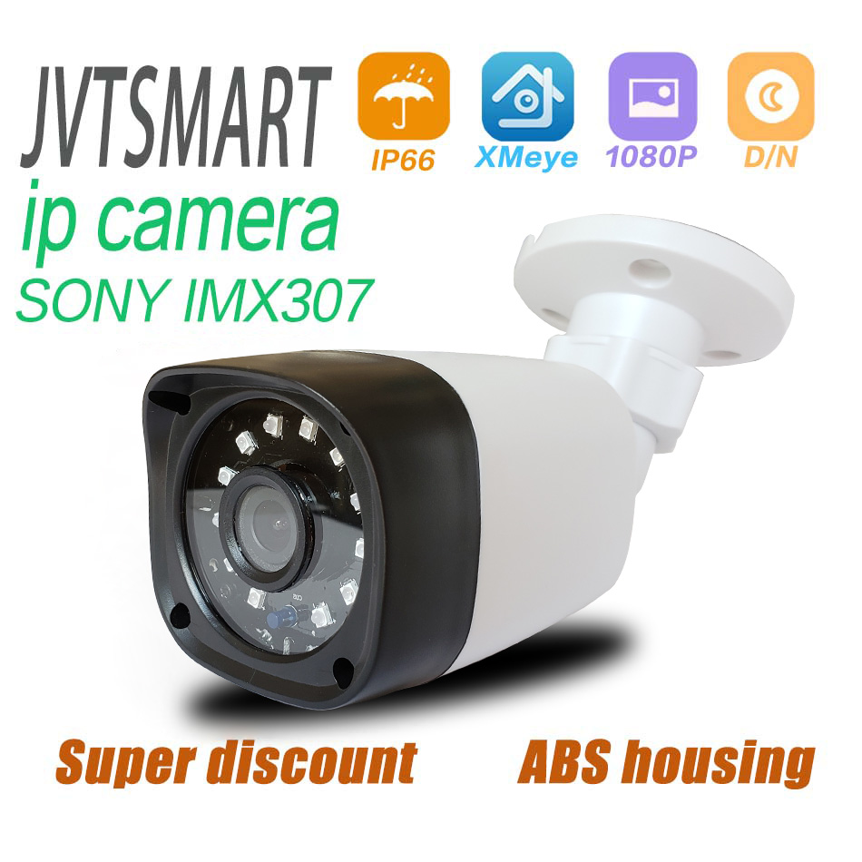 Jvtsmart H.265+ IP Camera SONY IMX307 1080P 2.8mm 3.6 Mm ONVIF Security Starlight 48v Poe Network Ipcam  XMEye 12V  CCTV Outdoor