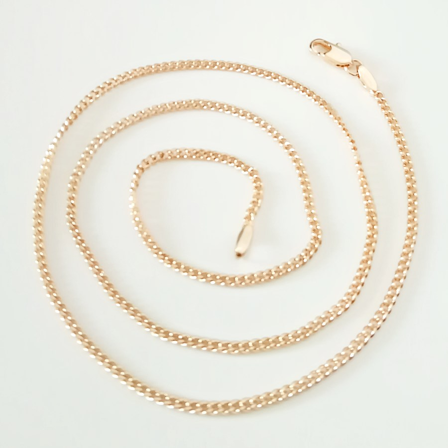 New Fashion Necklace Rose 585 Gold Color Women Jewelry 2mm 45cm Long Necklace Designs For Women Chain Necklaces Aliexpress