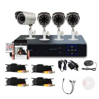 4CH Channel 960H HDMI DVR Outdoor Indoor Hot Promotion 700TVL IR CUT Security Camera System Night Vision Waterproof