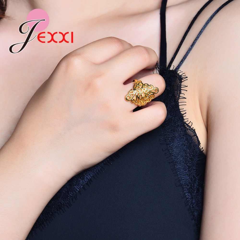 人格形状設計のための素敵な女性女性かなり良いギフトリアル 925 ピュアスターリングシルバー光沢のあるラインストーン