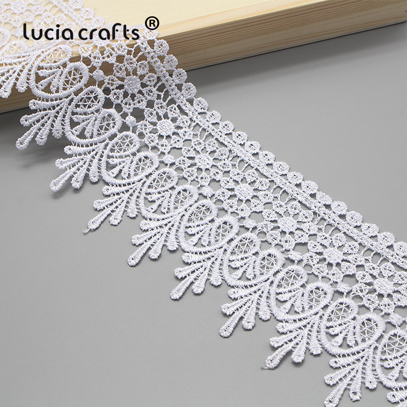 Lucia crafts 1y 2y 9cm Black White Embroidered Net Lace Fabric Trim Ribbons DIY Sewing Handmade Lucia crafts 1y/2y 9cm Black/White Embroidered Net Lace Fabric Trim Ribbons DIY Sewing Handmade Craft Materials N0508
