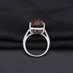 Image 3 - Gems Ballet 10.68ct Natural Smoky Quartz Gemstone Cocktail Rings For Women 925 Sterling Silver Engagement Ring Fine Jewelry