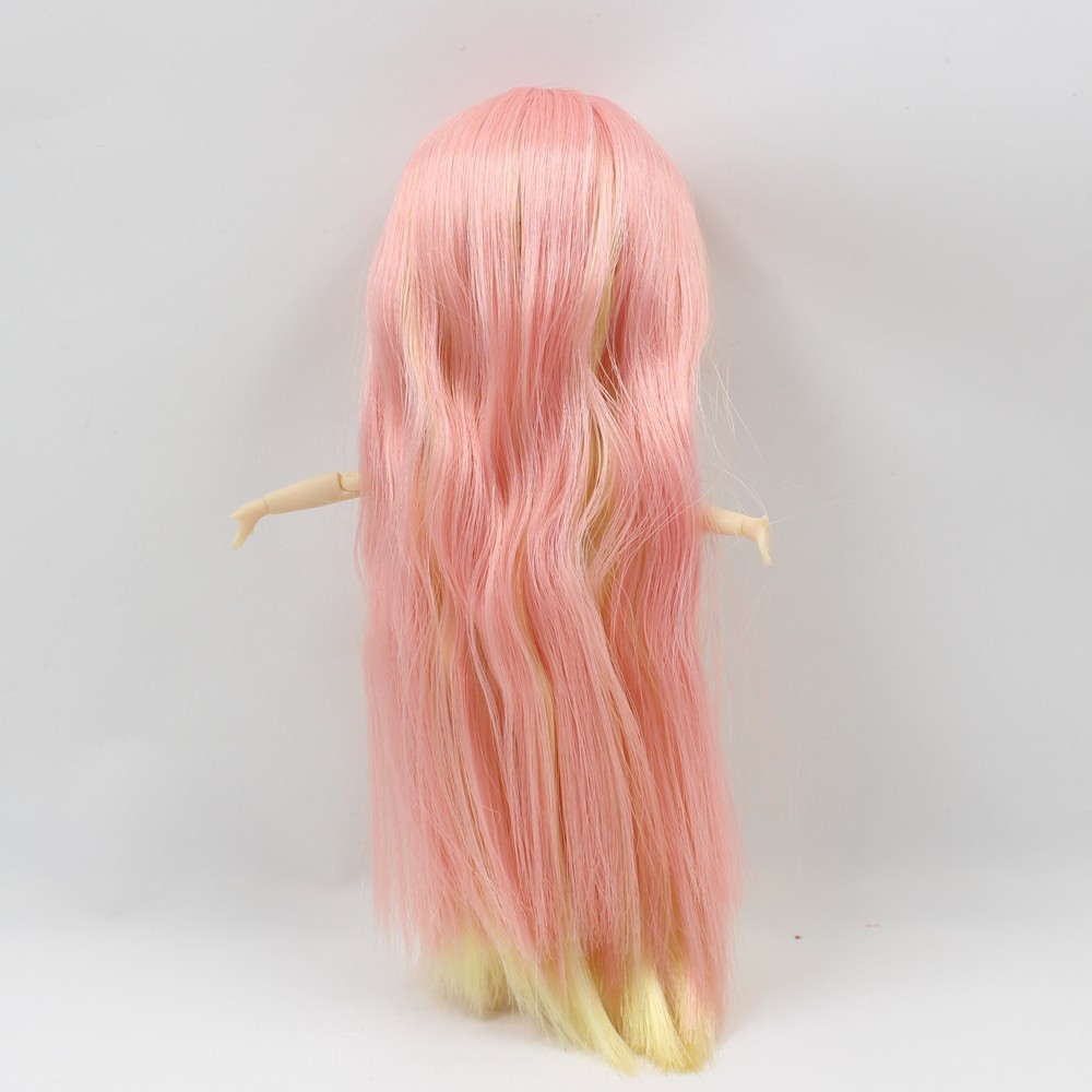 ICY Middie Doll Yellow Pink Hair Jointed Body 20cm 5