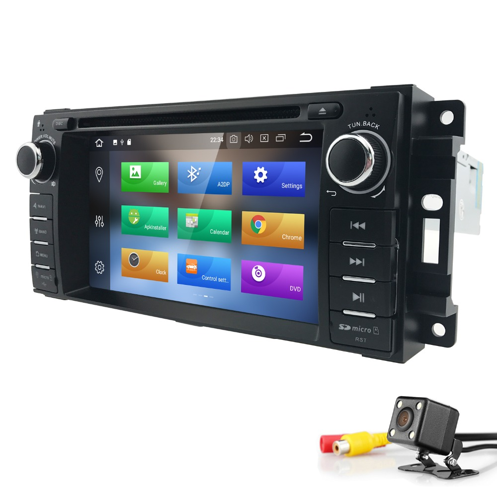 1 din Android 8.0 AutoRadio head unit For Chrysler 300C jeep Grand Cherokee Compass/Dodge/WranglerRam Car DVD Audio Stereo 4+32G image