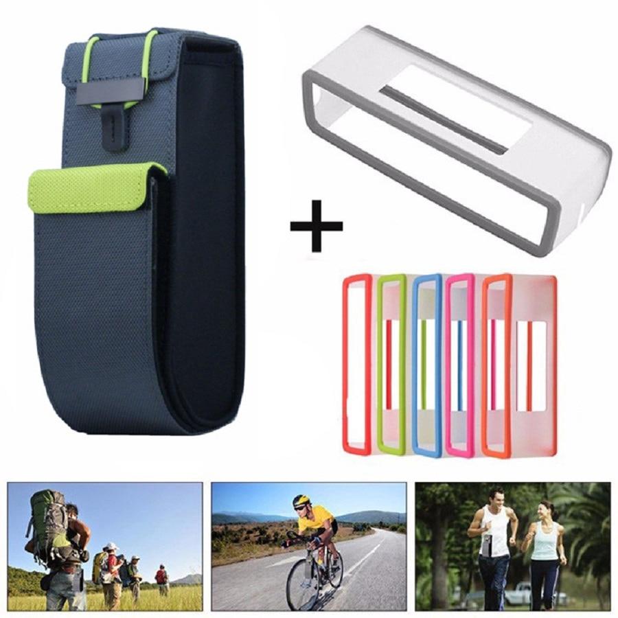 imágenes para 100% A Estrenar 2 en 1 Viaje De Nylon Negro Bolsa de Transporte Pouch + TPU Funda de Silicona Suave Para Bose SoundLink Mini Bluetooth altavoz