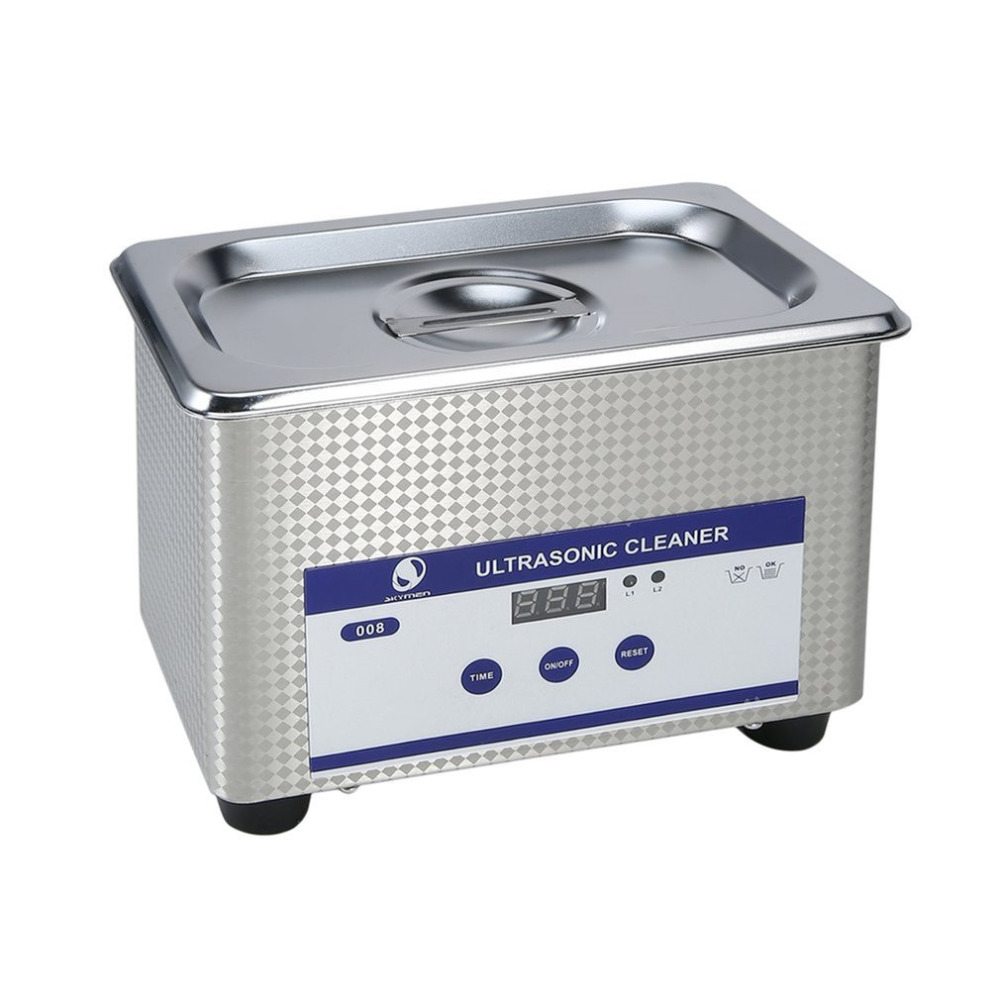 600ml Multi-functional Digital Timer LED Display Panel Ultrasonic Cleaner Jewelry Watches Dental Cleaning Solution jeken ps 30a 180w 6 5l digital ultrasonic cleaner with free cleaning basket digital timer lcd display