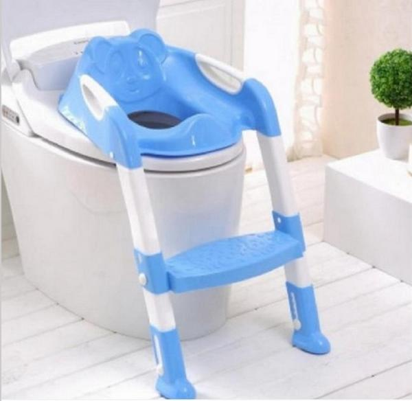 Fashion Potty Seat With Ladder Children Kids Baby Toilet Folding infant potty chair Training Portable Toilet Seat Cover T7010 цена