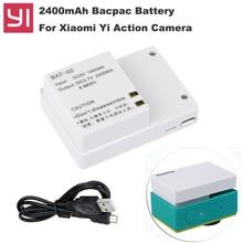External bacpac Battery Xiaoyi yi Action Camera backup 2400mAh digital Bateria for Xiaomi Yi  sport camera accessories
