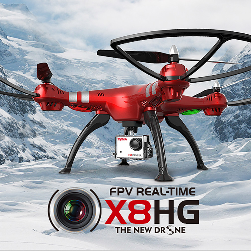 Syma X8HG RC Quadcopter RC Drones with 8 0MP HD Camera Barometer Set Height and Headless
