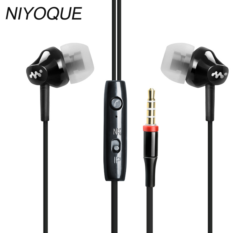 Earphone For iPhone 6 6S 5 5S earphones With Microphone 3.5mm Bass earphone For apple Xiaomi sony Sport earphones image