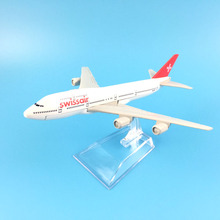 Swiss Air Swissair Airlines Boeing 747  16CM Alloy Metal Model Plane W Stand Aircraft Toy Kids Toys Birthday Gift FREE SHIPPING