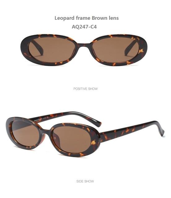 e3f1585201a9 Women Hotsale Fashion Summer Unique Colors Small Oval Sunglasses  Personality Sexy Cosy Shades Sun Glasses UV400 Oculos De Grau