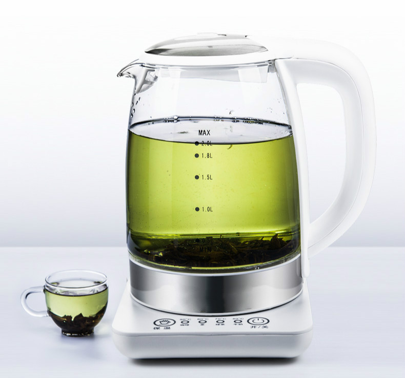 Electric kettle thermo-glass electric kettle used heat boil tea pot Overheat Protection